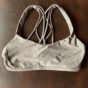 Lululemon Free to be Zen Size 6 Grey Sports Bra